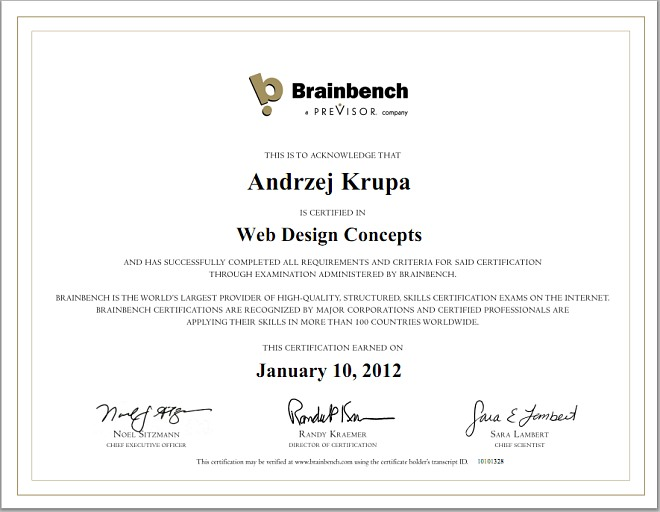Web Design Concepts Certification