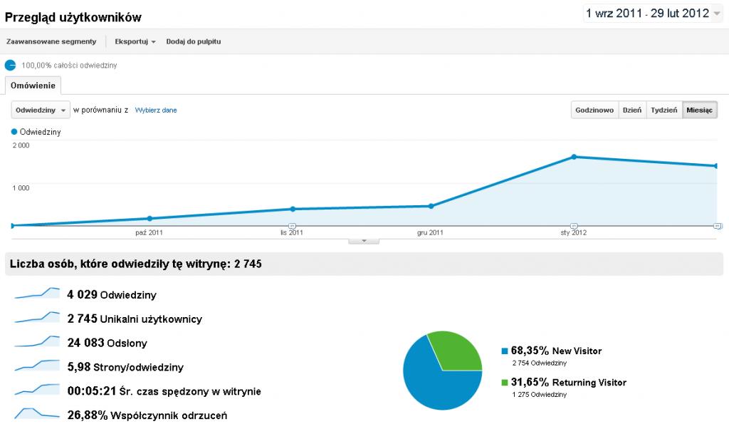 SEO Optymalizacja strony WWW dla wyszukiwarek internetowych - zwiększenie wejść